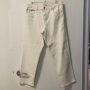 H&M Straight Leg White Denim Jeans